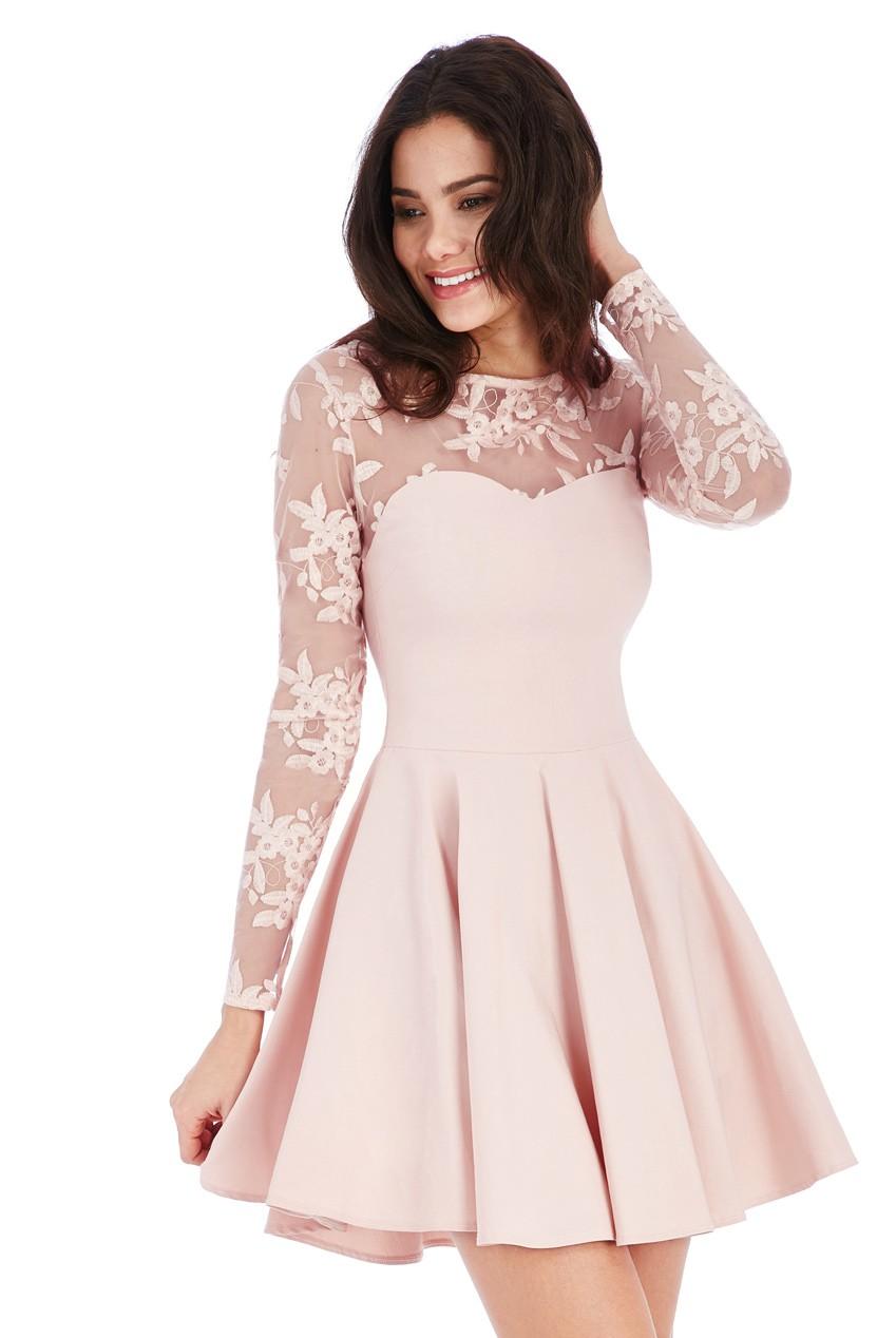 c4785f6d7c4d Šaty-KrátkeSpoločenské Dámske Sexy Mini šaty - RužováLoveourfashion.sk