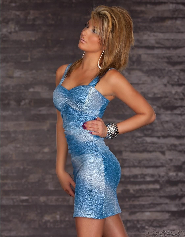 f4b0659c77ab Šaty-KrátkeDámske elegantné elastické letné mini šaty na ramienka ...