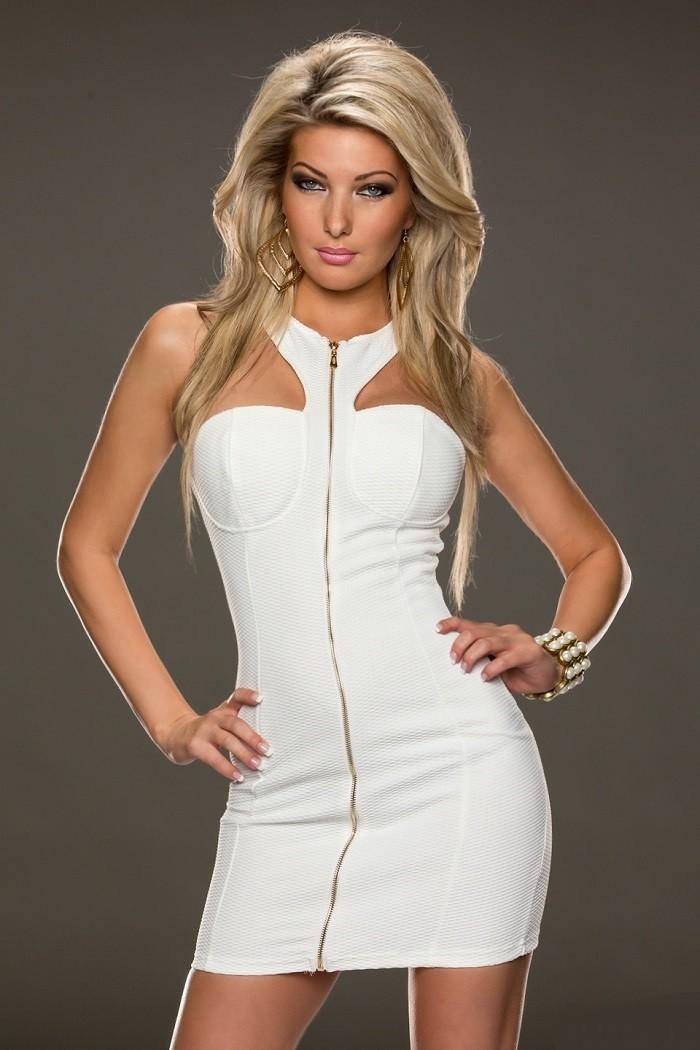 5b61d368a1d1 Šaty-KrátkeDámske elastické letné mini šaty okolo krku Halter so ...